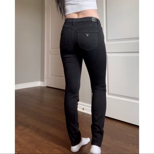 GUESS black skinny jeans
